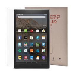 All-New Fire HD 10 Screen Protector, MENZO Tempered Glass Pr