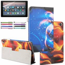 Amazon Fire HD 10 Leather Case For 2019 / 2017 with Screen P