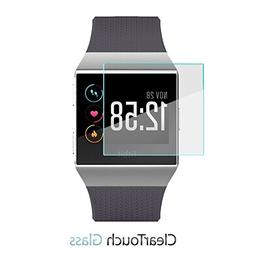 Fitbit Ionic Screen Protector, BoxWave  9H Tempered Glass Sc