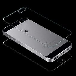 Front and Back Tempered Glass,iPhone SE 5 5G 5S Film,LandFox