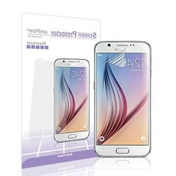 Galaxy S6 Screen Protector Front and Back, amFilm Premium An