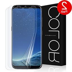 G-Color Galaxy S8 Screen Protector, Full Coverage   Not Temp