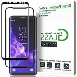 Galaxy S9 Screen Protector Glass, amFilm 3D Curved Dot Matri