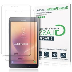 amFilm Galaxy Tab A 8.0 2017 Screen Protector Glass 2 Pack,