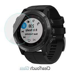 Garmin Fenix 5X Plus Screen Protector, BoxWave  9H Tempered