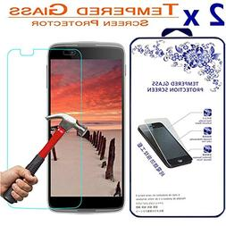 2x Glass Screen Protector For Alcatel OneTouch IDOL 3 5.5 in