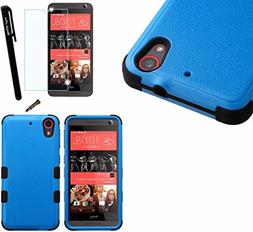 For HTC Desire 625  Dual Layer Tuff Armor Hybrid Silicone Co
