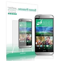 amFilm HTC One M8 Screen Protector 2014  Premium Anti-Glare/
