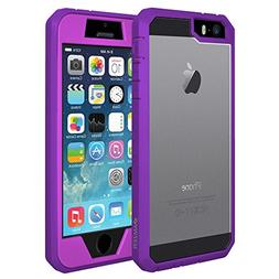 AMZER Full Body Hybrid Case with Built-in Screen Protector f