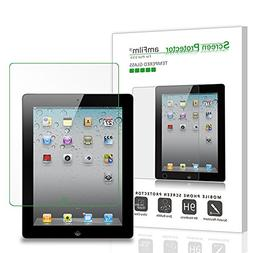 iPad 2, 3, 4 Screen Protector Glass, amFilm Glass Screen Pro