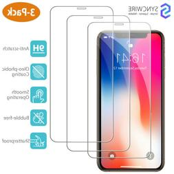 iPhone X XS Screen Protector 3-Pack HD Hardness Tempered Gla