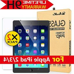 iPad 2 / iPad 3 / iPad 4 Glass Screen Protector, AnoKe Anti-