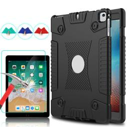 For iPad 6th Generation 9.7 2018 Shockproof Slim Soft Case+S