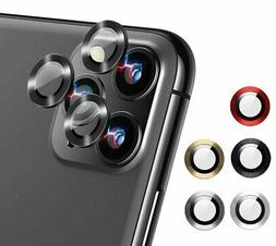 For iPhone 11/ 11 Pro Max Metal Ring+Tempered Glass Camera L