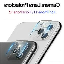 For iPhone 12 11 Pro Max FULL COVER Tempered Glass Camera Le
