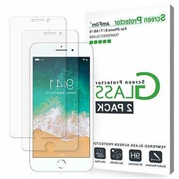 amFilm Glass Screen Protector for iPhone 8, 7, 6S, 6