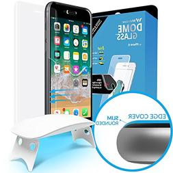 Dome Glass iPhone 8 Screen Protector Tempered Glass Shield,