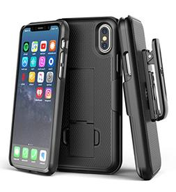 Encased iPhone X Belt Clip Case  Slim Fit Holster Shell Comb