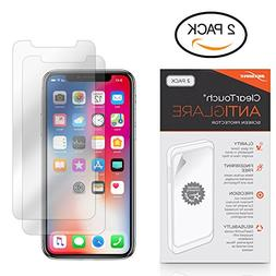 iPhone X Screen Protector, BoxWave ] Anti-Fingerprint Matte