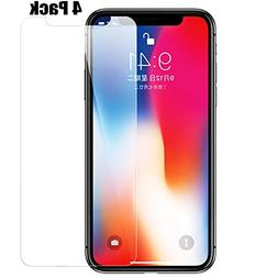 iPhone X Screen Protector, CaseHQ Tempered Glass 9H Hardnes