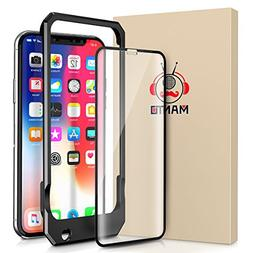 iPhone X Screen Protector Manto Full Coverage Tempered Glass
