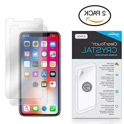 iPhone X Screen Protector, BoxWave ] HD Film Skin - Shields