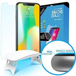 Dome Glass iPhone X Screen Protector Tempered Glass Shield,