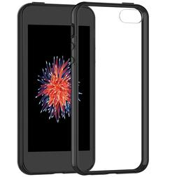 iPhone SE Case Cover Shock-Absorption Bumper Clear Back for