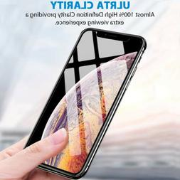 For iPhone X XS Max XR Premium HD Full Coverage Tempered Gla