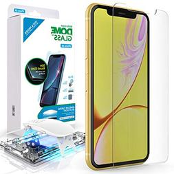iPhone XR Screen Protector, Full Cover Tempered Glass Shield