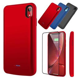 For iPhone X XR XS Max Battery Charger Charging Case Cover E