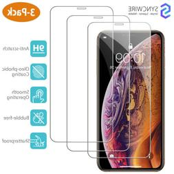 Syncwire 3-Pack iPhone XS Max Screen Protector 9H Tempered G