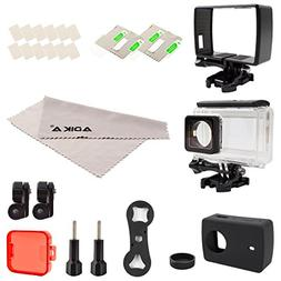 ADIKA Sport Accessories Kit for Yi 4K Inclueds Waterproof Ho