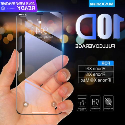 10D For iPhone X XS Full Tempered Glass Screen Protector