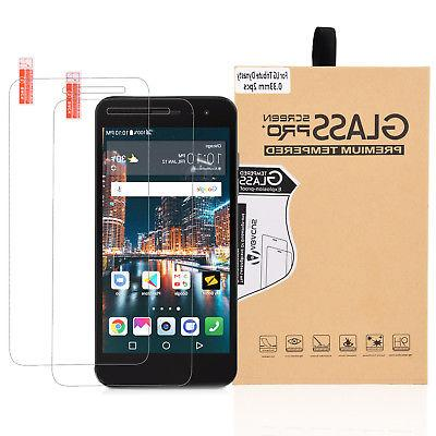 2-PACK Glass Screen Protector for LG Aristo 2/Tribute Dynast