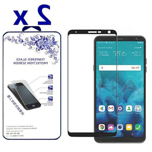 2-Pack For LG Stylo 4 2018 Full Cover Tempered Glass Screen