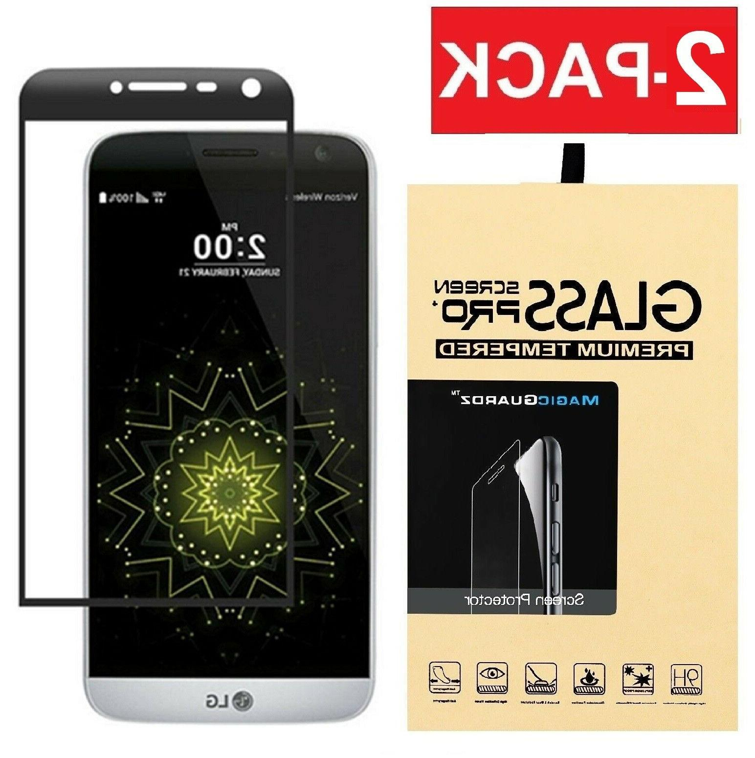 2-Pack Full Cover 3D Tempered Glass Screen Protector for LG