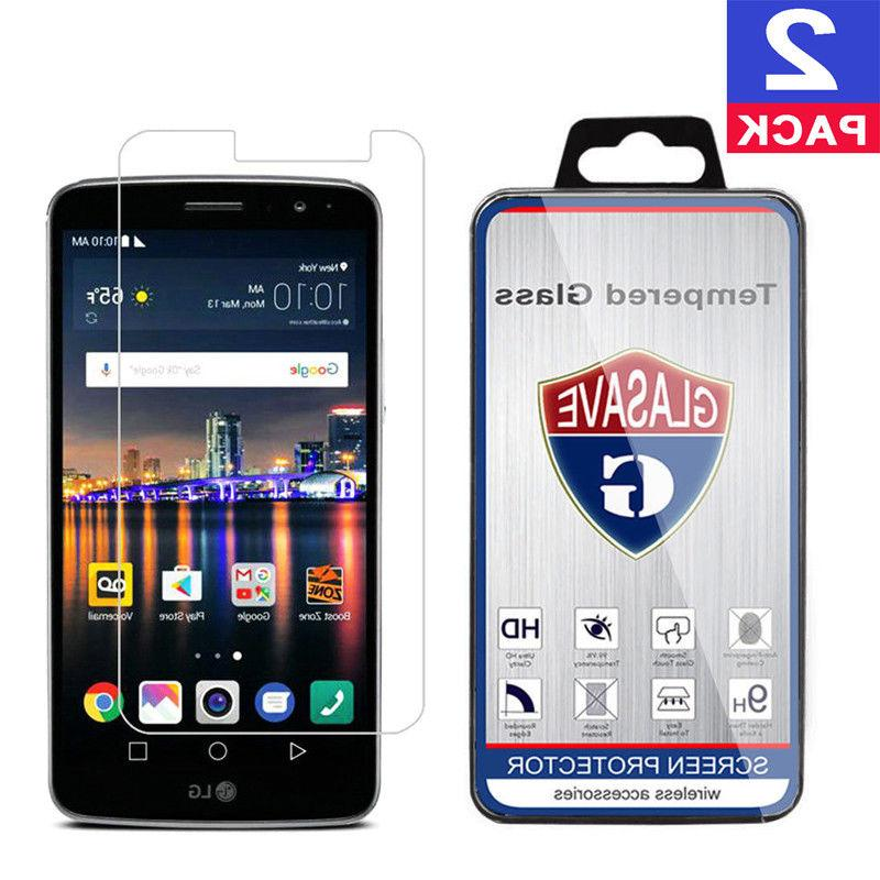 GLASAVE Tempered Glass Screen Protector For LG Stylo 3 All