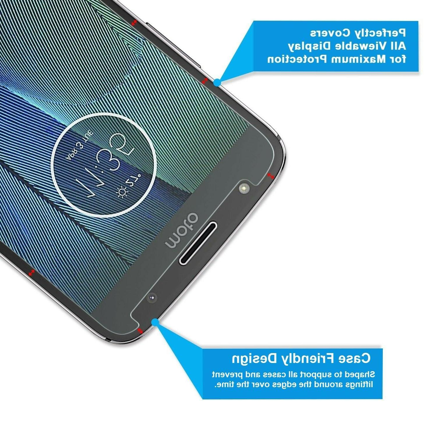 2-Pack Tempered Glass Screen for Moto G5S G5S Plus