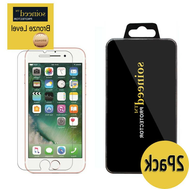 2-Pack SOINEED iPhone 6 / 7 / 8 Plus Tempered GLASS Screen P