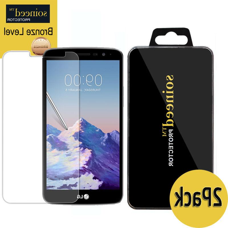 SOINEED Tempered Glass Screen Protector For LG LG Stylo 3 P