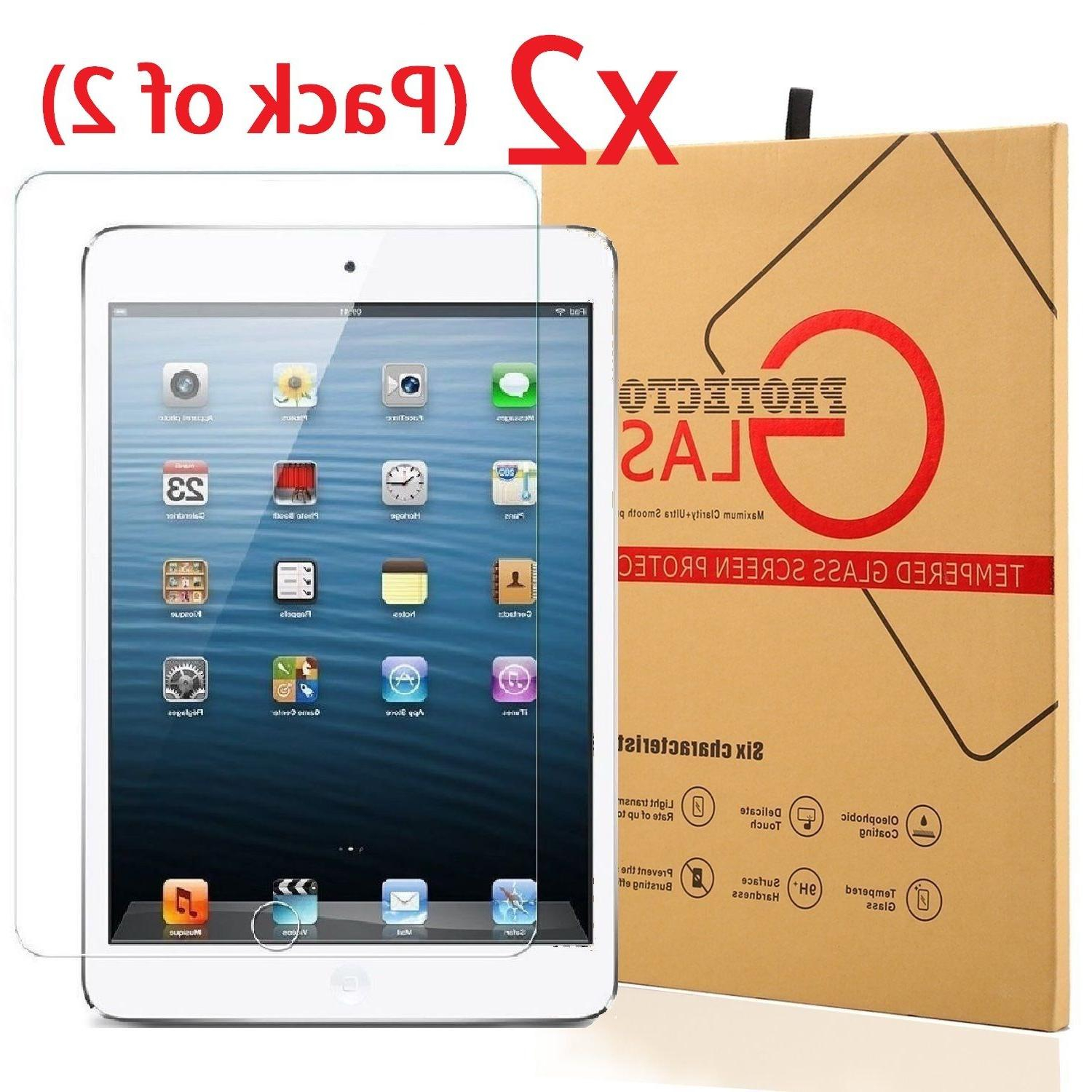 2-Pack Tempered Glass Screen Protector For iPad Air 1 & 2  /