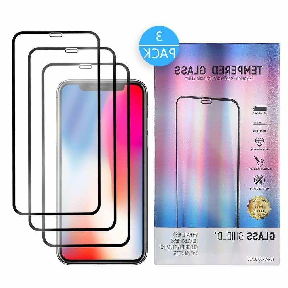 2 iPhoneX Tempered Glass Screen Protector for Apple iPhone X