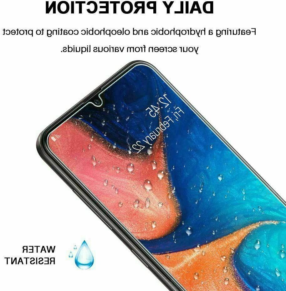2-Pack Tempered Clear HD Protector Samsung Galaxy A10 A10E A20