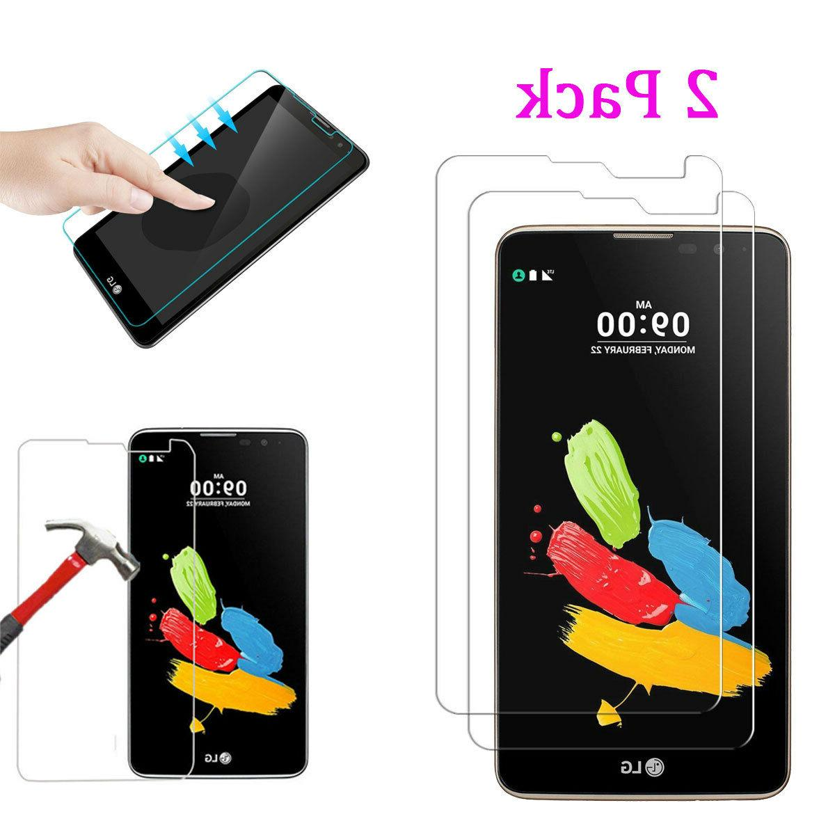 2Pcs 9H+ Premium Tempered Glass Film Screen Protector For LG