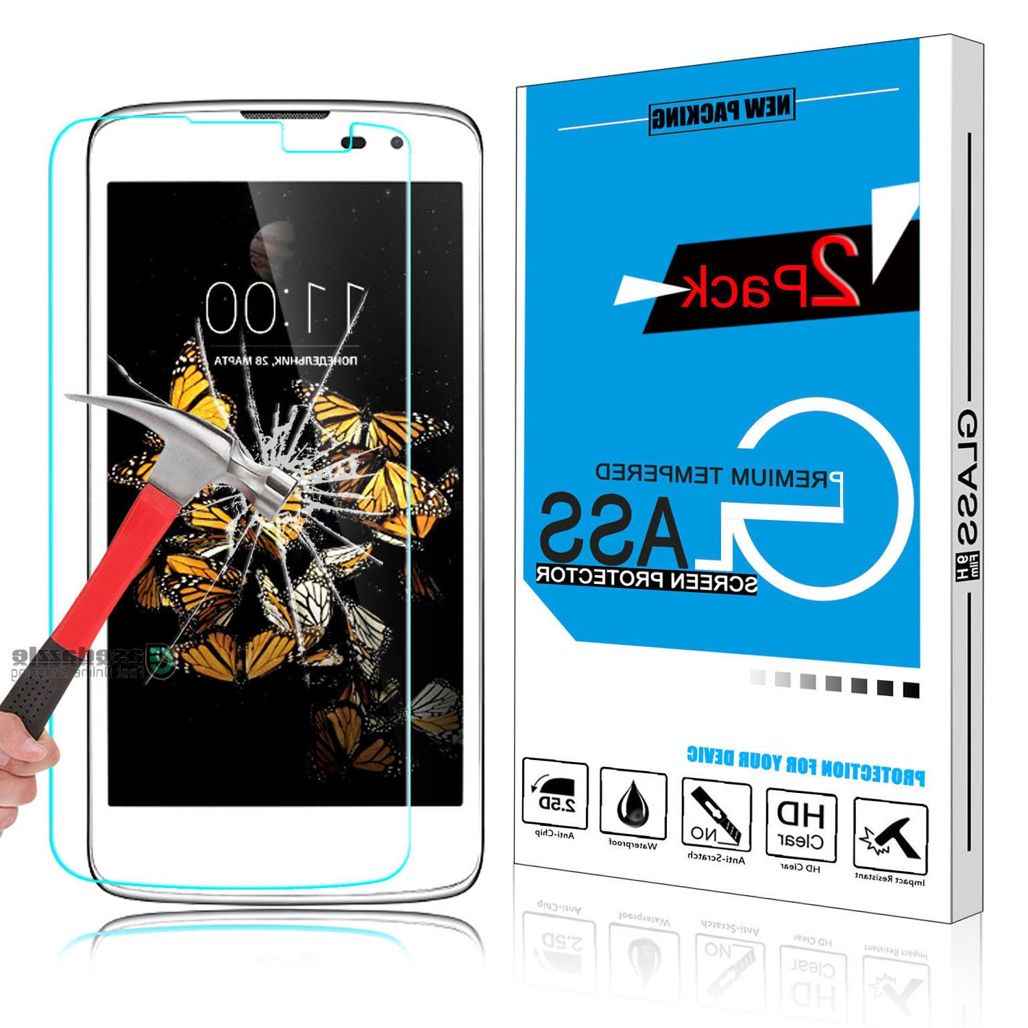 2Pcs High Quality HD Premium Real Tempered Glass Screen Prot