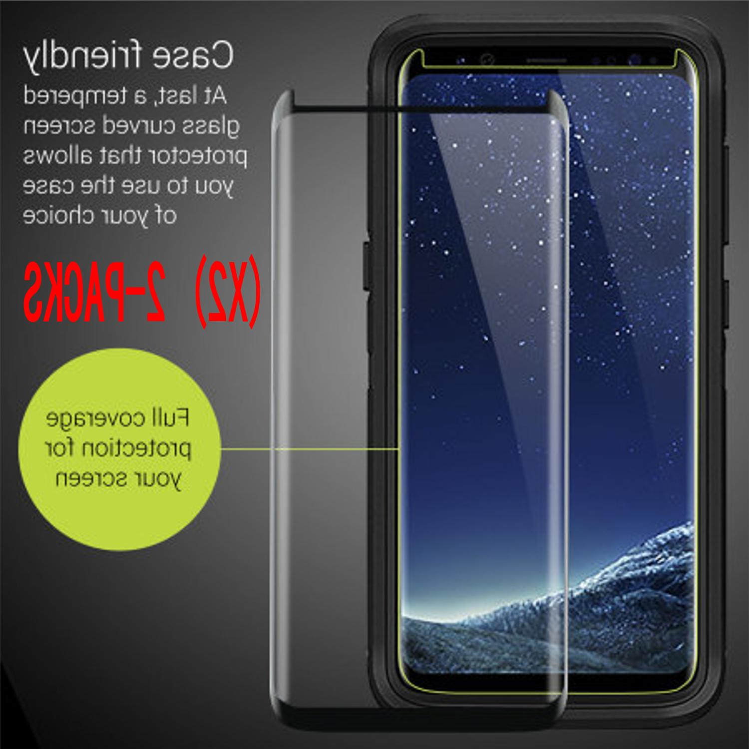 2x For Samsung Galaxy S9 Plus 3D Full Cover Tempered Glass S
