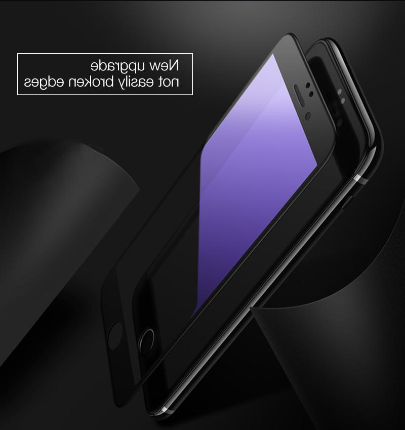 2x For 7 Plus Tempered Screen Protector Anti Light Filter