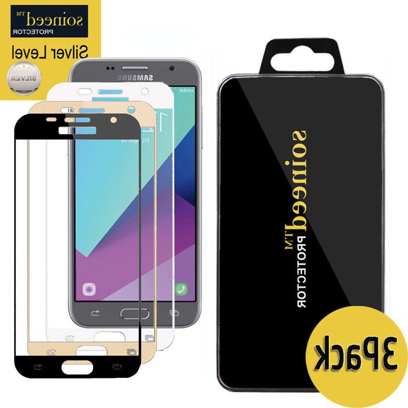 3-Pack SOINEED Samsung Galaxy J3 2017 Full Cover Tempered Gl