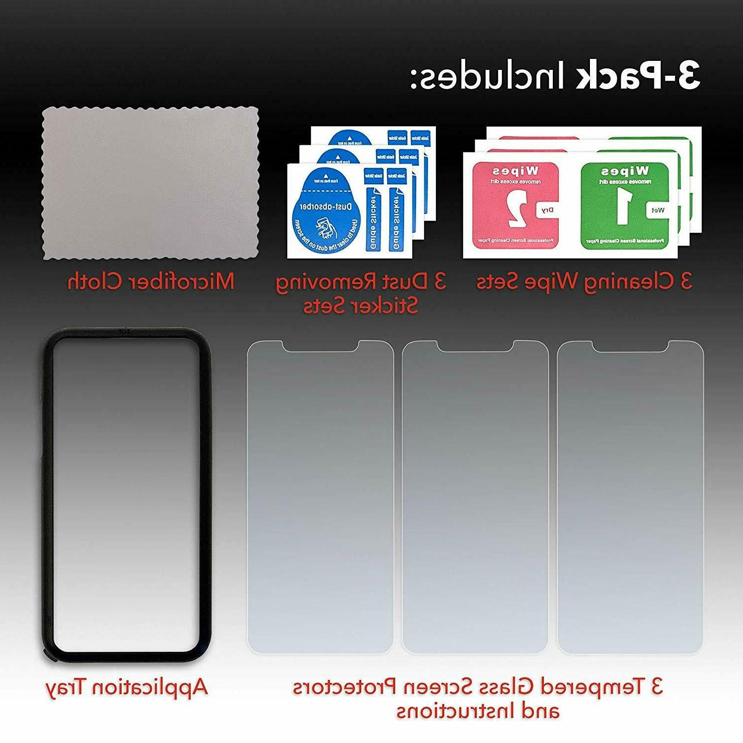 3-Pack & Tempered Screen Protector Install Tray